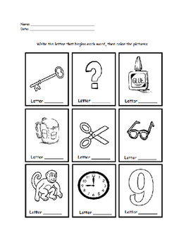 Phonics - Beginning Sounds 2