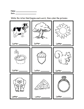 Phonics - Beginning Sounds