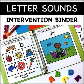 Phonics RTI: Beginning Sounds A-Z Intervention Binder