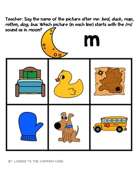Beginning Sounds Intervention Binder (Down syndrome, autism, RTI and more)
