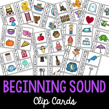 Phonics - Beginning Sounds Clip Cards