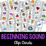 Phonics - Beginning Sounds Clip Cards
