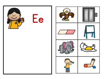 Phonics Beginning Sounds and Letters Mats and Matching Cards Fall Kids Theme