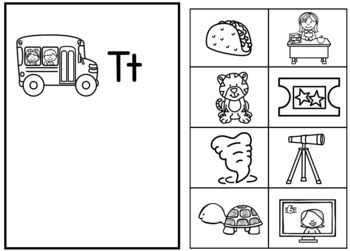 Phonics Beginning Sounds and Letters Mats and Matching How We Go To School Theme