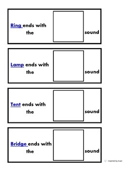 Phonics Beginning and Ending Blends sort - match/Flashcards for Autism