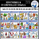 R Controlled and Diphthongs VALUE BUNDLE Clip Art