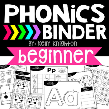 Phonics Binder- Beginner {RTI, Intervention, Guided Reading, Centers}