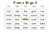 Phonics Bingo 3