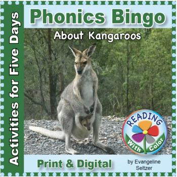 Phonics Bingo About Kangaroos: Print & Digital Activities for Five Days