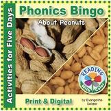 Phonics Bingo About Peanuts: Print & Digital Activities fo