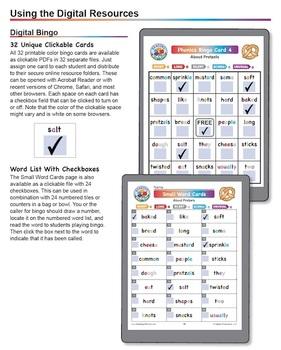 Phonics Bingo About Pretzels: Print & Digital Activities for Five Days