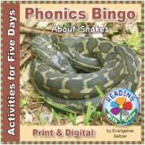 Phonics Bingo About Snakes: Print & Digital Activities for