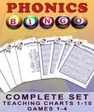 Phonics Bingo Blends - All Four Games and Accompanying Teaching Charts