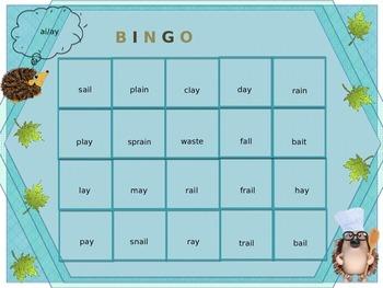 Phonics Bingo Board