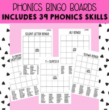 Phonics Bingo Boards