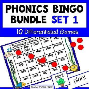 Phonics Bingo Bundle Set 1