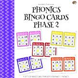 Phonics Bingo Cards Phase 2