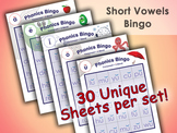 Phonics Bingo - Complete Set - Short - Includes A, E, I, O, U