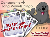Phonics Bingo - Consonants + Long Vowel Blends  (a, e, i, o, u)