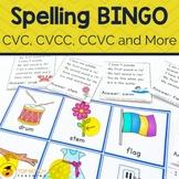 Phonics Bingo Games | Interactive Spelling Bingo for CVC,