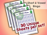 Phonics Bingo - Short E