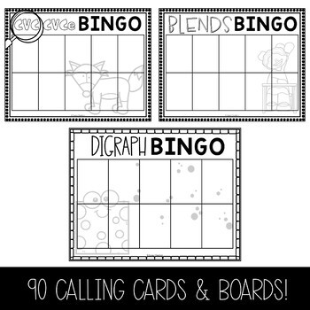 Phonics Bingo Templates   EDITABLE