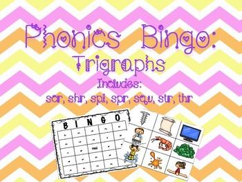 Phonics Bingo: Trigraphs