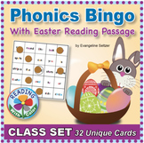 Phonics Bingo With Easter Reading Passage: Class Set of 32