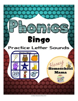Phonics Bingo to Practice Beginning Word Sounds with 3 Words Per Letter!