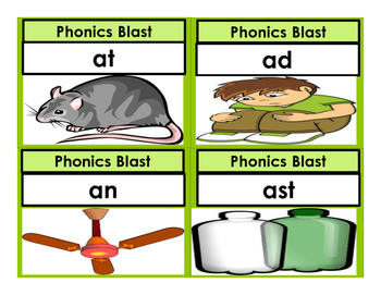 Phonics Matching Picture Cards