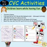 CVC Blend/Segment CVC Words Read/Write Activities, Clipart