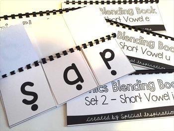 Phonics Blending Books- Short Vowels (CVC)