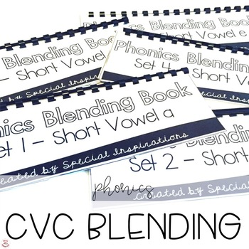 Phonics Blending Books- Short Vowels (CVC)