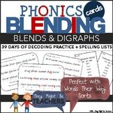 Phonics Blending Cards (Digraph and Blends Bundle)