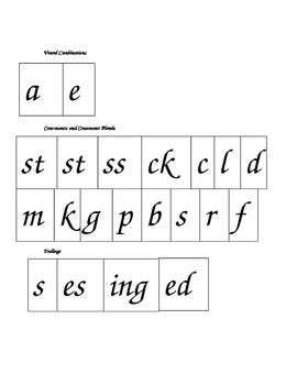 Phonics Blending Chunks featuring long a_e compared to short a