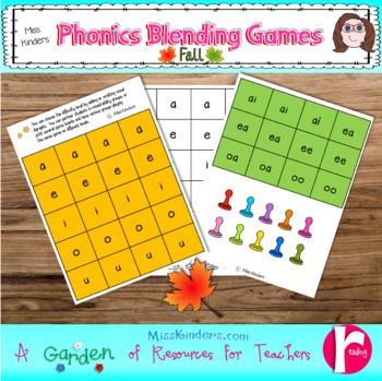 Phonics Blending Games Fall Theme