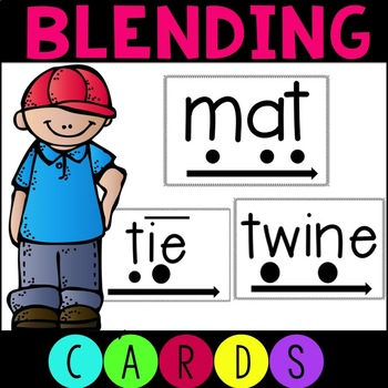 Phonics Blending Word Cards for RTI