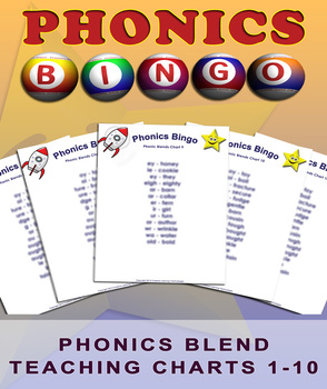 Phonics Blends Bingo - Classroom Phonics Teaching Charts