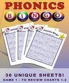 Phonics Blends Bingo Game Set - Game One
