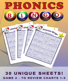 Phonics Blends Bingo Game Set - Game Two