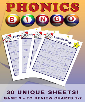 Phonics Blends Bingo Set - Game Three