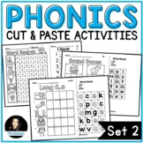 NO PREP Phonics Cut and Paste Activities Set 2 Blends Long Vowels Digraphs