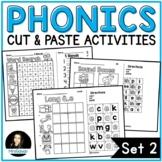 NO PREP Phonics Cut and Paste Activities Set 2 Blends Long Vowels Digraphs