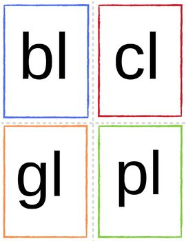 Phonics Blends and Digraphs Flashcard for Beginning Readers