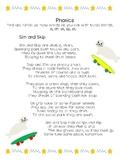 Phonics Blends  sl, dr, sk, sp, st. Poem and word sort