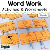 Word Work Stations - Easy to set up for Blends