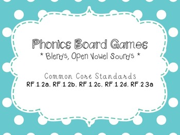 Phonics Board Games
