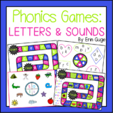 Phonics Board Games: Letter Recognition, Letter Sounds, an