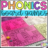 Phonics Board Games: R-Controlled Vowels, Glued Sounds, Vo