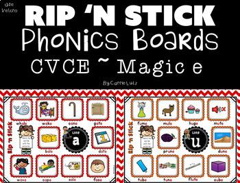 Phonics Boards for CVCE / Magic e